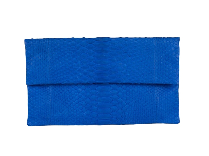 Mila Clutch in Cobalt