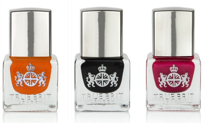 True Brit Nail Polishes in Stiff Upper Lip, Taxi Cab and Big Ben