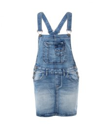 KRISP Blue Denim Dungaree Mini Dress