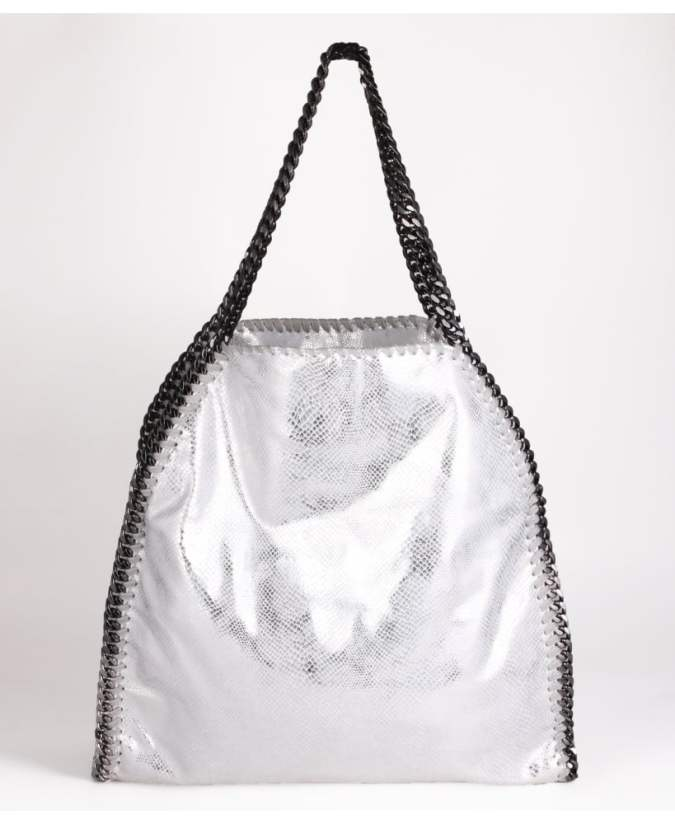 KRISP Metallic Snakeskin Chain Shoulder Bag
