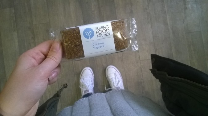 The Living Food Kitchen Coconut Flapjack - review by Fashion Du Jour LDN