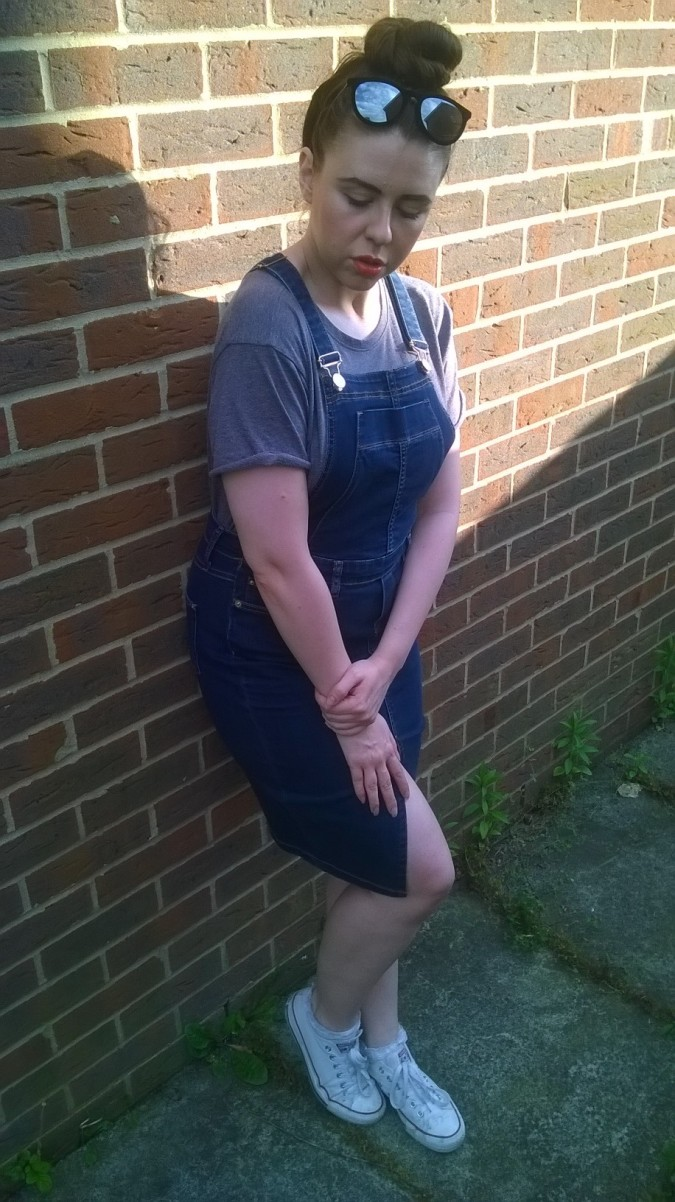 Pinafore Perfection: OOTD River Island Denim by Fashion Du Jour LDN