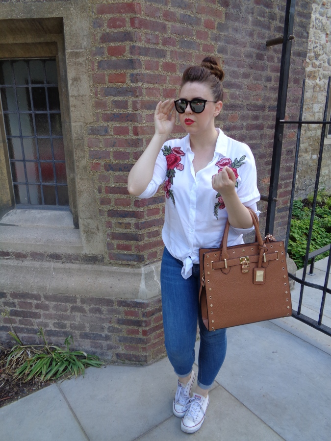 Blooming Lovely!: KRISP Clothing Floral Shirt OOTD by Fashion Du Jour LDN