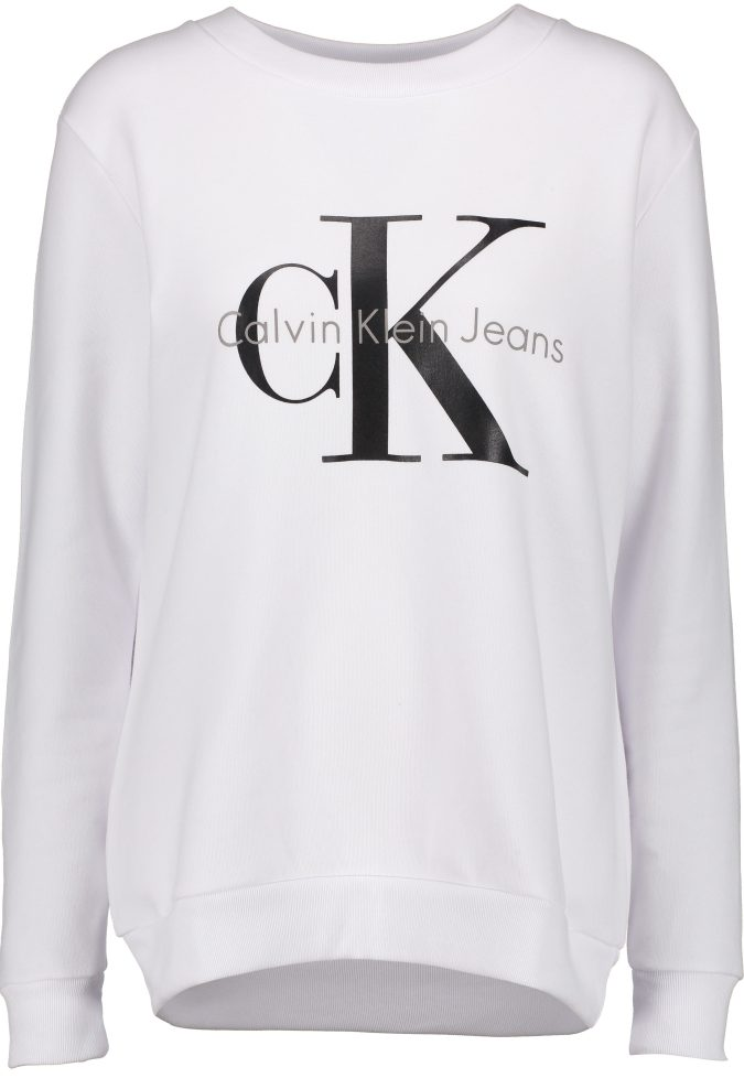 Womens White Calvin Klein Jumper - ODs Designer Clothing