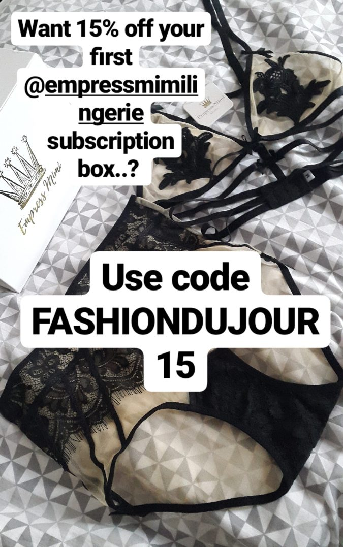 Self Love: Empress Mimi Lingerie Subscription Box by Fashion Du Jour LDN