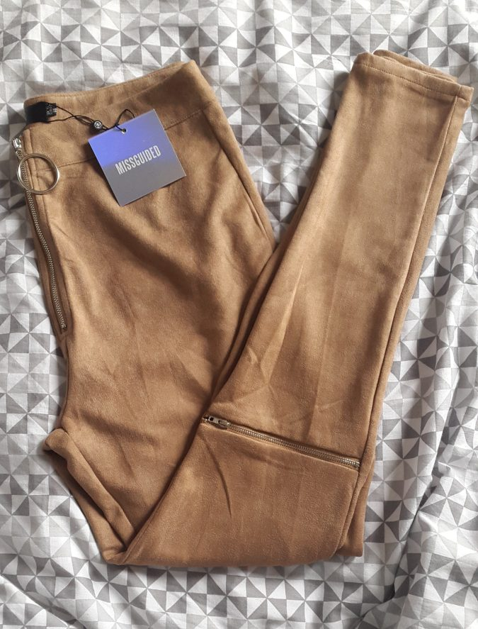 """How to """"Love The Sales"""" All Year Round! by Fashion Du Jour LDN. Missguided faux suede zip knee leggings"""
