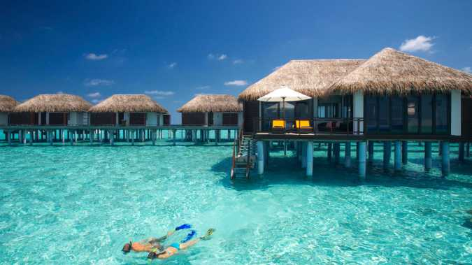 Come Away With Me: 2018 Travel Bucket List by Fashion Du Jour LDN. Maldives ocean beach huts