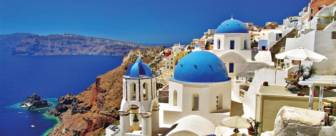 Come Away With Me: 2018 Travel Bucket List by Fashion Du Jour LDN. Santorini Greece White Buildings blue roofs