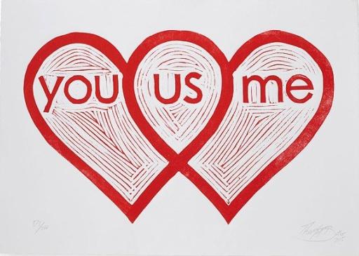 Not Your Average Valentines Gifts: Uncommon Goods Wishlist by Fashion Du Jour LDN - Uncommon Goods Heart Venn Diagram Linocut Print