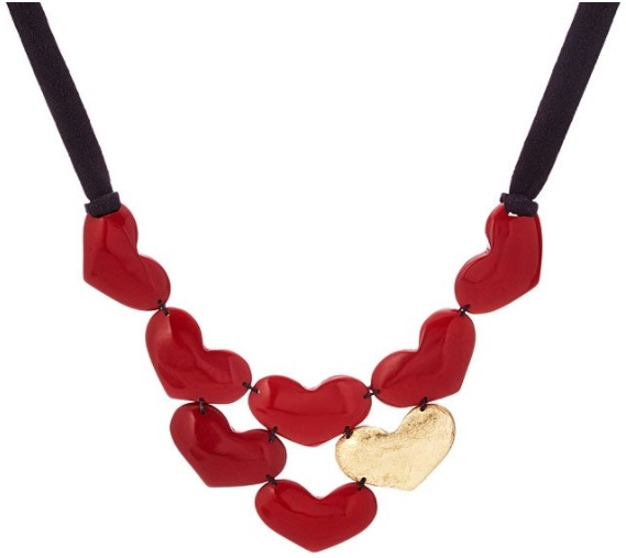 Not Your Average Valentines Gifts: Uncommon Goods Wishlist by Fashion Du Jour LDN - Uncommon Goods Lots Of Love Tagua Bib Necklace
