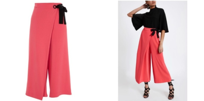Colour Pop - Bold Bright Must-Haves by Fashion Du Jour LDN River Island Coral Culottes 3