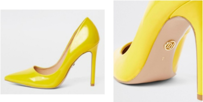 Colour Pop - Bold Bright Must-Haves by Fashion Du Jour LDN River Island Yellow Patent Court Shoes 3