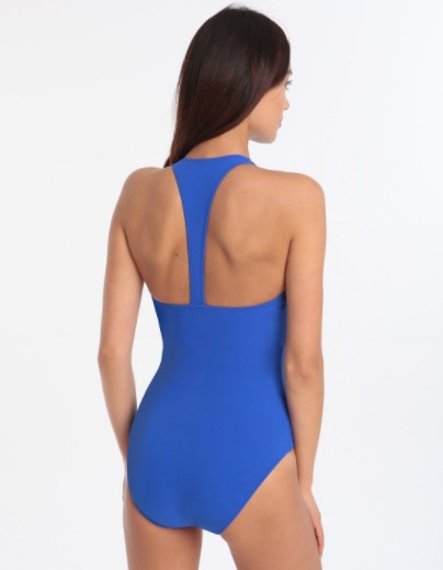 In The Swim: Our Hot Swimwear Picks by Fashion Du Jour LDN. Gottex Profile Impact Sports High Neck One Piece Blue