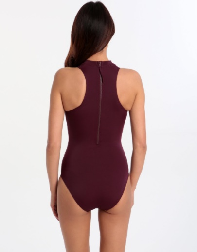 Making A Splash: Our Swimwear Lust List By Fashion Du Jour LDN. Halocline Sleek Zip Back Swimsuit Mulberry