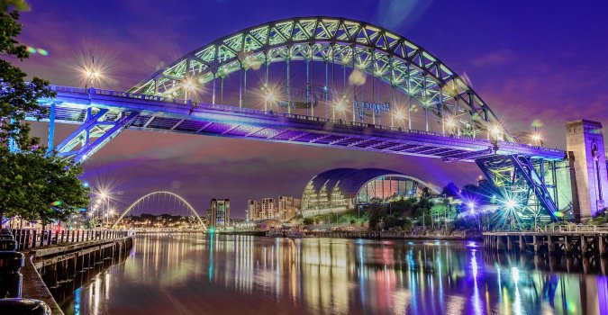Happy #VanLife Happy Van Wife Top Places To Escape In The UK - by Fashion Du Jour LDN. Newcastle at Night, bridge