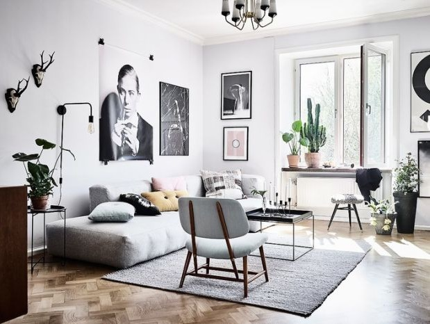 How to Photograph Your Interiors like a Pro by Fashion Du Jour LDN. Lounge, grey, wall art, photography