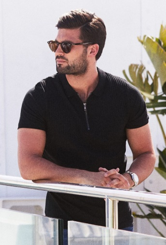Fix Up, Look Sharp!: Boyfriend Style Picks With QUIZMAN by Fashion Du Jour LDN. QUIZMAN Black Ribbed Half Zip Polo Shirt