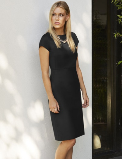 Working It!: Our Top Workwear Picks by Fashion Du Jour LDN. Simon Jersey Contemporary Slash Neck Dress