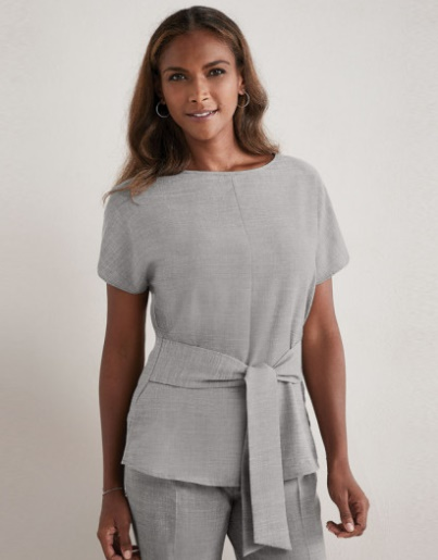 Working It!: Our Top Workwear Picks by Fashion Du Jour LDN. Simon Jersey Linen Blend Tie Tunic