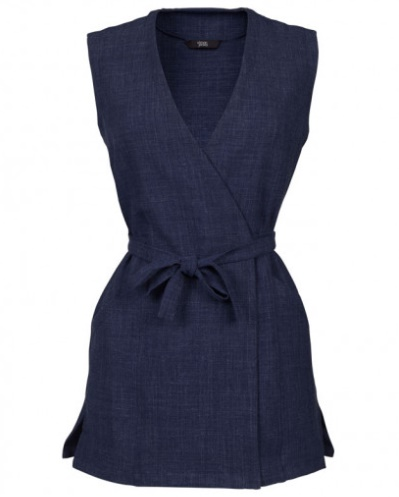 Working It!: Our Top Workwear Picks by Fashion Du Jour LDN. Simon Jersey Linen Blend Wrap Tunic
