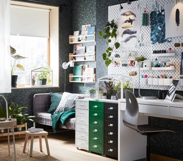 Perfectly Productive - Top Tips To Create Your Ideal Home Office by Fashion Du Jour LDN - IKEA