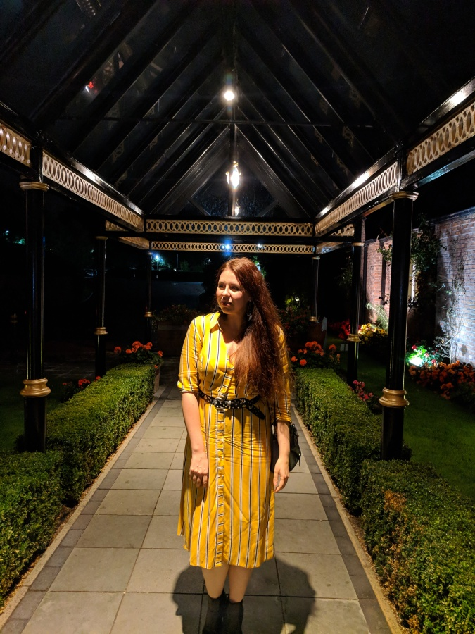 Nice To MEAT You!: The Grill In The Park, Worsley by Fashion Du Jour LDN. Grill in the Park Worsley Restaurant. Primark Yellow Striped Shirt Dress