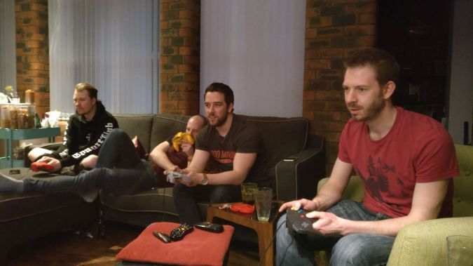 NintenDON'T Miss Out!: How To Have Great Times With Friends by Fashion Du Jour LDN. Lads playing Retro Nintendo games