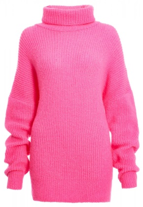Lovers Retreat - What To Wear On Your Valentine's Getaway By Fashion Du Jour LDN. Quiz Fuchsia Roll Neck Chunky Knit Jumper