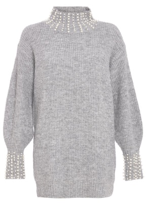 Lovers Retreat - What To Wear On Your Valentine's Getaway By Fashion Du Jour LDN. Quiz Grey Knit Pearl Jumper