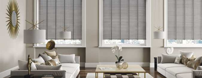 Light and Shade - How To Make Impact In Your Home With Windows And Blinds by Fashion Du Jour LDN. Cool grey Stylish Venetian Wooden blinds Blinds2 Go)
