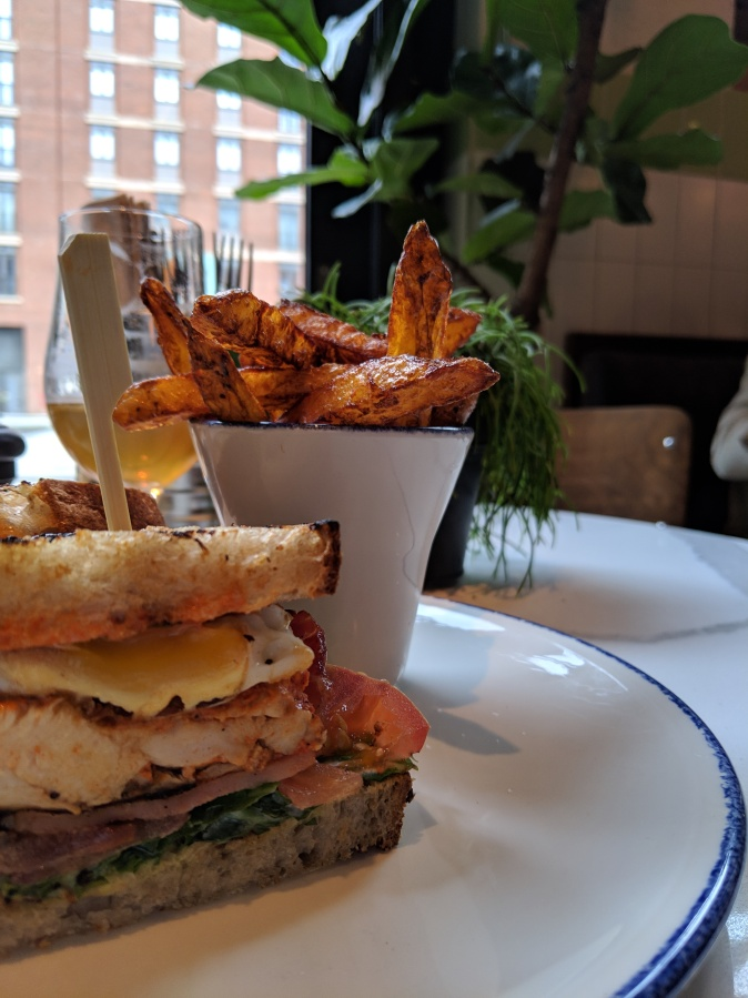 Marvellous Manchester: A Local's Guide To Hidden Gems by Fashion Du Jour LDN. The Counter House, Ancoats, Manchester. Chicken Club Sandwich, Fries