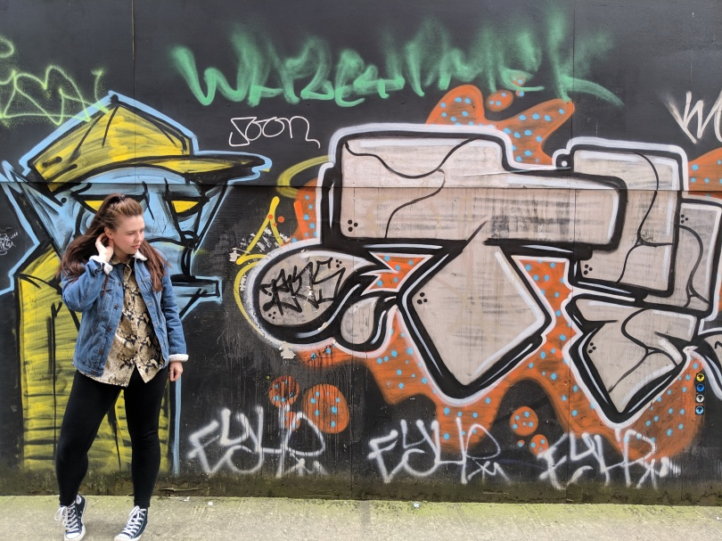Marvellous Manchester: A Local's Guide To Hidden Gems by Fashion Du Jour LDN. Manchester. Street Art. Girl. Denim Jacket