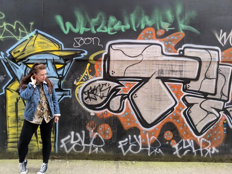 Marvellous Manchester: A Local's Guide To Hidden Gems by Fashion Du Jour LDN. Manchester. Street Art. Girl. Denim Jacket