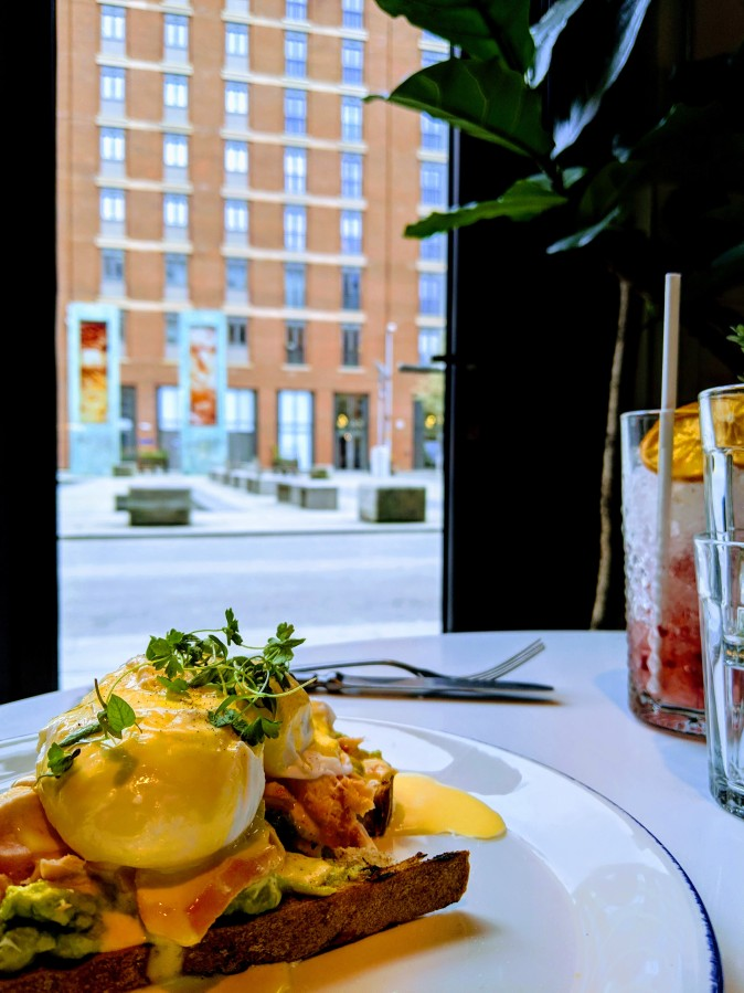 Marvellous Manchester: A Local's Guide To Hidden Gems by Fashion Du Jour LDN. The Counter House, Ancoats, Manchester. Eggs Royale, avocado on toast