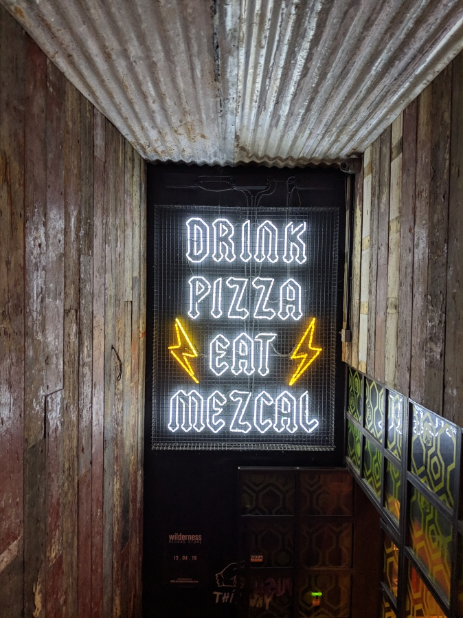 Marvellous Manchester: A Local's Guide To Hidden Gems by Fashion Du Jour LDN. Crazy Pedros Part Time Pizza Par.lour, Manchester. Neon sign artwork