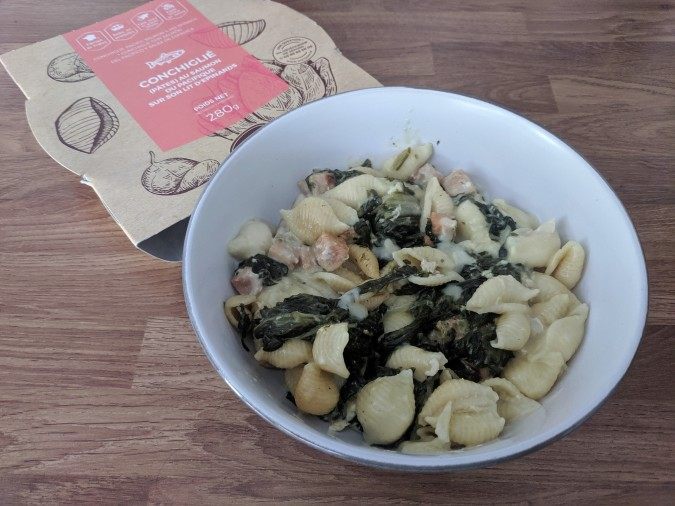 Je Ne Sais Quoi Discovering That Extra Something With DietBon Weightloss Meals by Fashion Du Jour LDN. Conchiglie Pasta with Pacific salmon and spinach