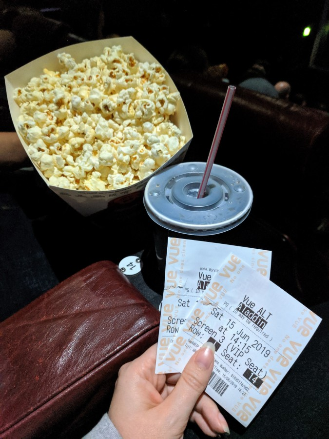 A Perfect Vue! Our Trip To Vue Cinema, Altrincham by Fashion Du Jour LDN. Cinema tickets, popcorn, drink