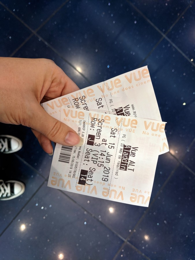 A Perfect Vue! Our Trip To Vue Cinema, Altrincham by Fashion Du Jour LDN. Aladdin Cinema tickets